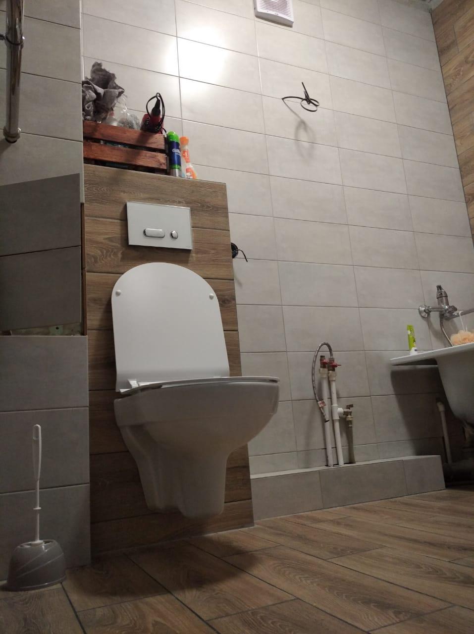 Ремонт ванной комнаты и установка инсталляции